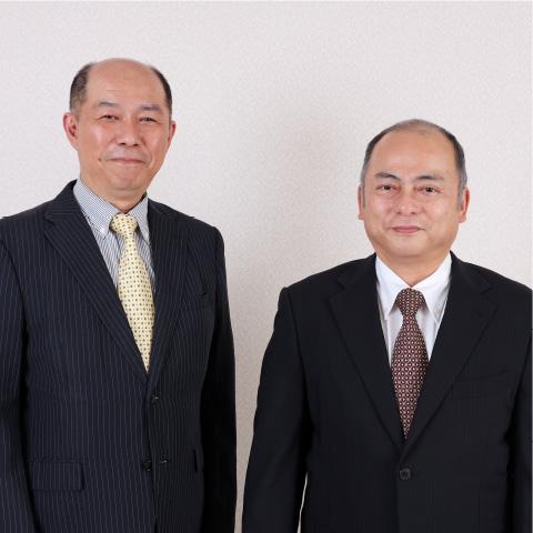 代表取締役 中島 肇/取締役専務 松田 至朗